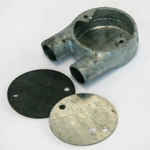 Galvanised U-Bend 20mm Junction Box (Inc. Cover & Gasket)
